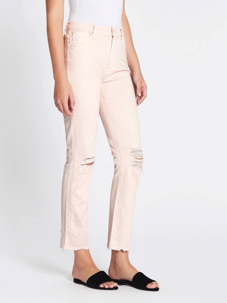 Mother Denim The High Waisted Rascal Ankle Jean - Pink