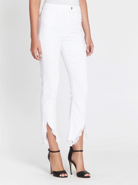 3x1 W3 Higher Ground Slash Slim Crop Jean - WHITE