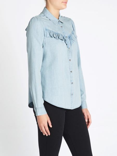 Paige Layda Shirt - Light Blue