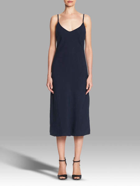 Mother Denim The Slip Up Dress - Navy