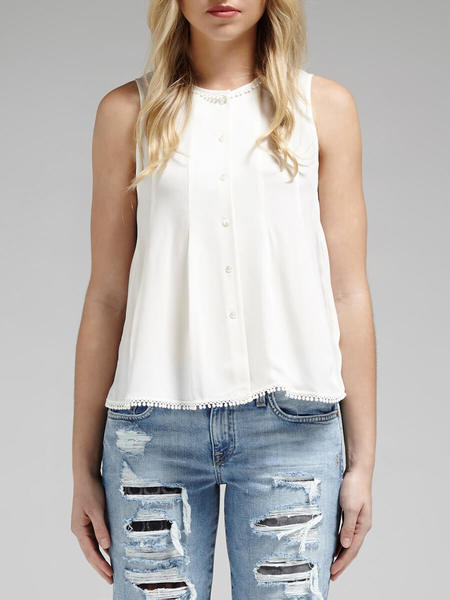 Rebecca Minkoff Double Georgette Kate Top