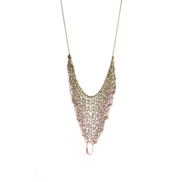 Ka'kia V-Mesh Necklace - Gold