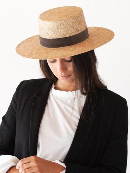 Janessa Leone Jade Bolero Hat - Beige