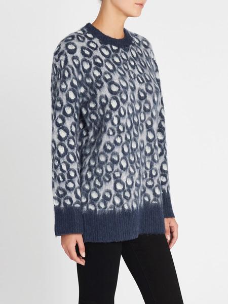 Current Elliott The Cali Sweater - Brushed Leopard
