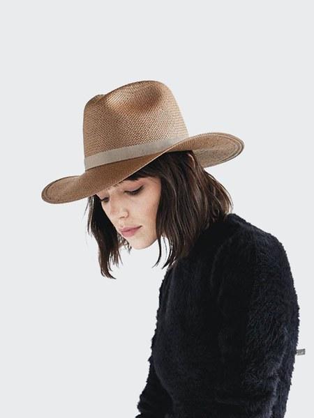 Janessa Leone Adriana Hat - Tan