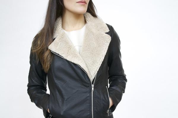 BB Dakota Vegan Leather Biker Jacket