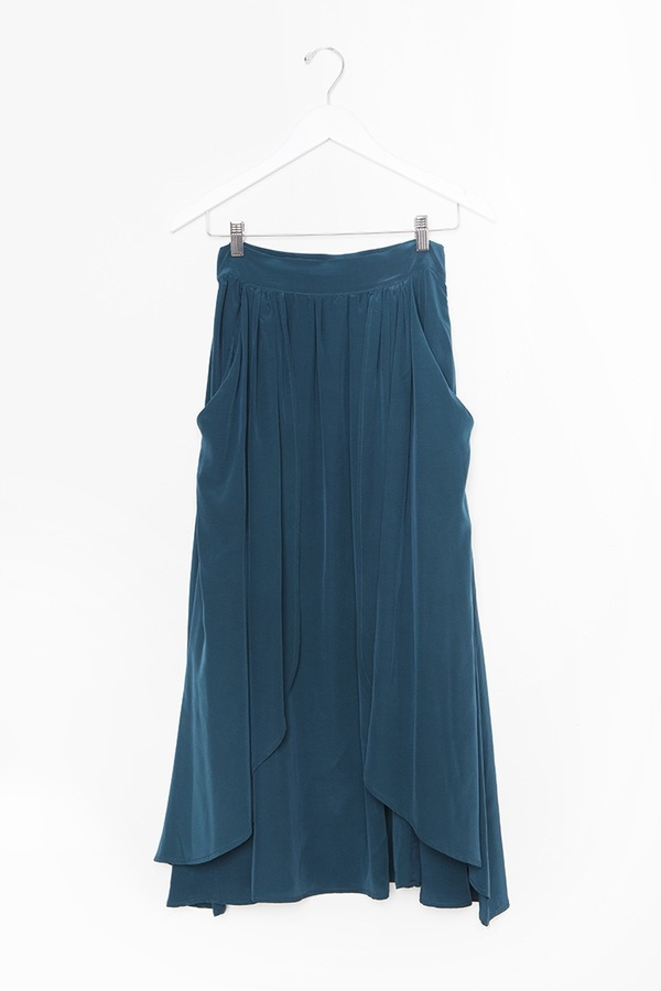 Kieley Kimmel Swing Skirt | turquoise