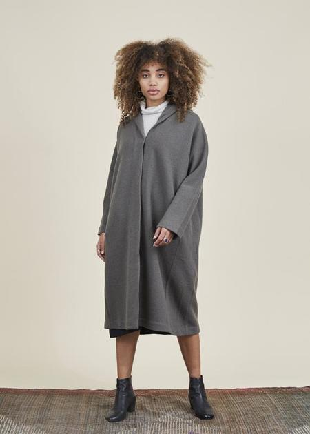 Evam Eva Hooded Duffle Coat - Moss Gray