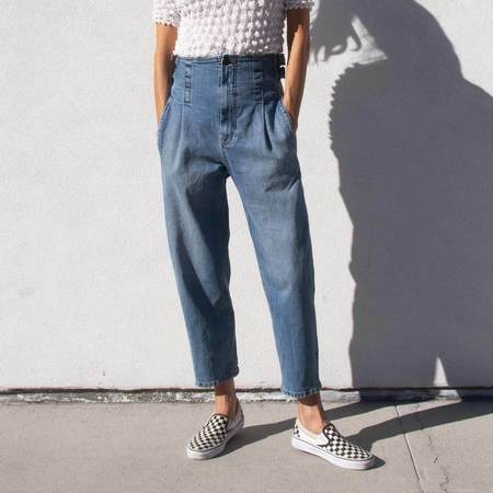 Colovos Vintage Buckle Pant - Blue