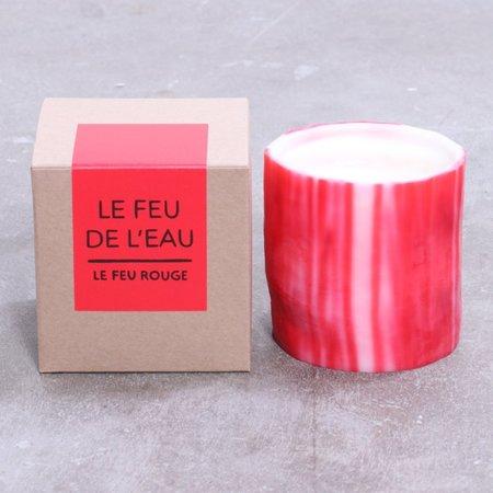 Le Feu De L'Eau Le Feu Rouge Candle - Garden Rose