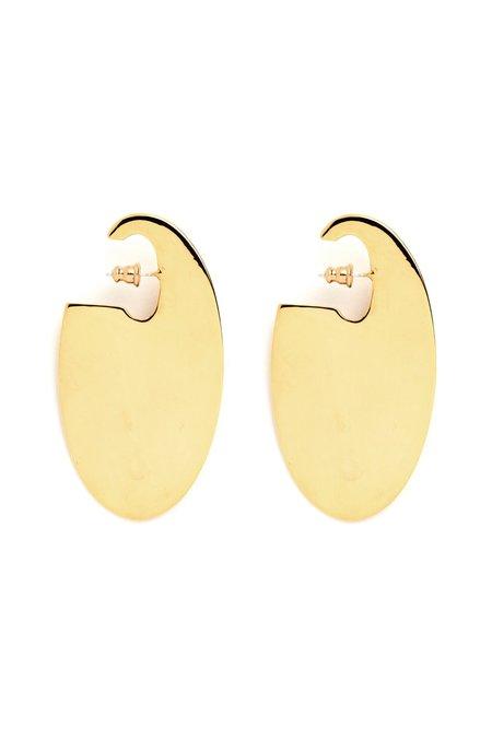 Lady Grey Ovoid Earrings - Gold