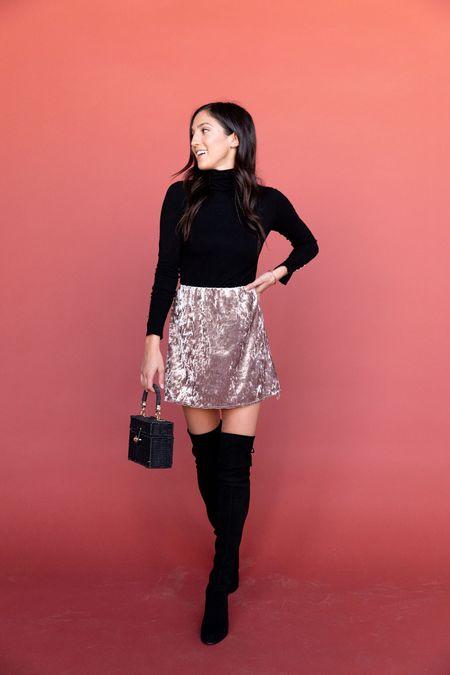 BETWEEN TEN Kelli Skirt - Silver Velvet