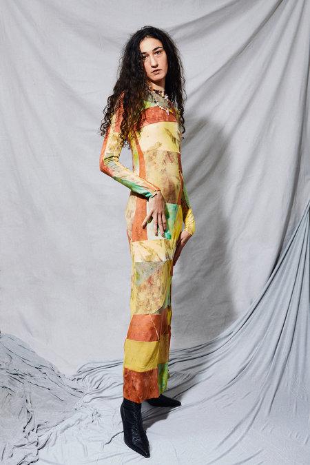 Kahle Long Sleeve Patchwork Dress