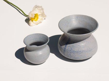 Asobimasu Clay Large Flute Vase - COBALT BLUE