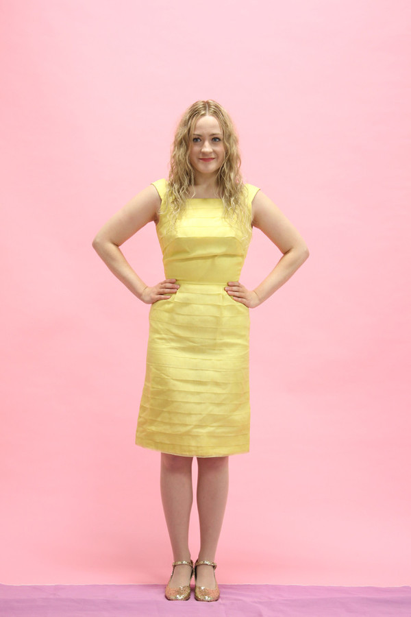 Steel Magnolias Vintage Yellow Pleated Party Dress