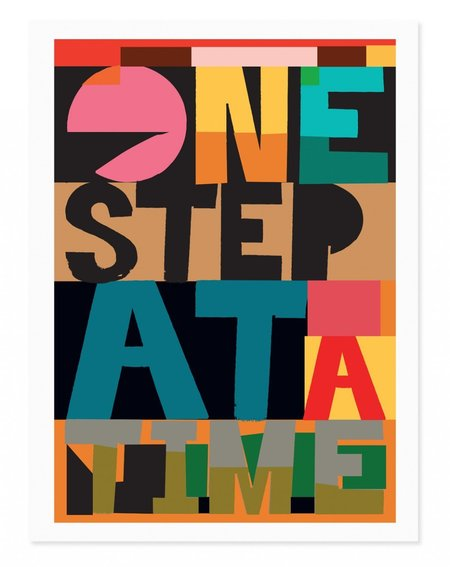 Rude One Step at a Time Art Print