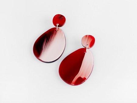 Valet Pandora Earrings - Red