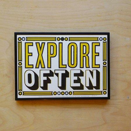 Hooksmith Press 'Explore Often' print