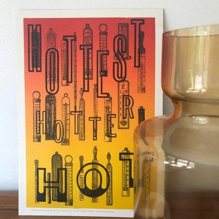 "Hooksmith Press ""Hottest hotter hot"" print"