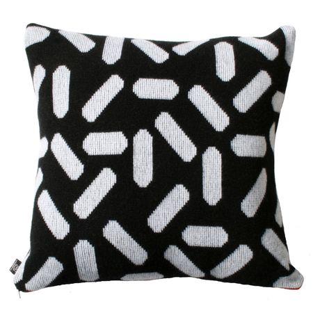 Giannina Capitani Large Tic tac cushion large - BLACK/WHITE