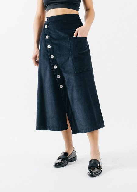 REIFhaus PETRA SKIRT - MIDNIGHT CORD