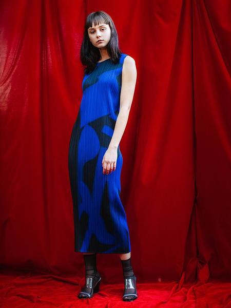 Issey Miyake Dress - Monochrome Blue