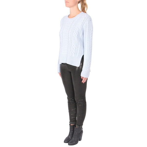 10 Crosby by Derek Lam Cable Knit Crew Neck Sweater
