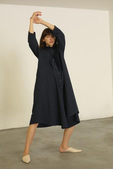 Sunja Link Shirt Dress/Jacket - Indigo
