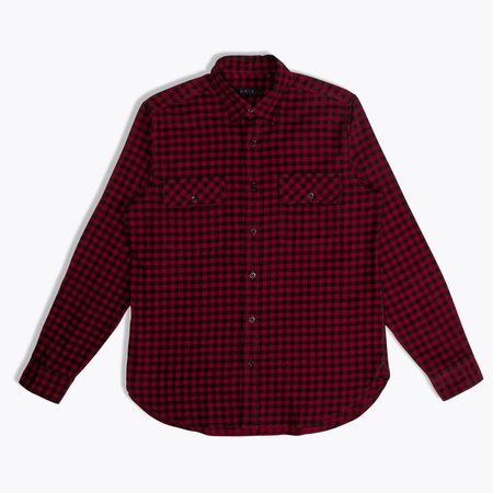 Unis Toby Shirt - Black/Red Check
