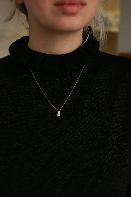 Ideal Woman Simone Necklace - Rose Gold/Diamond