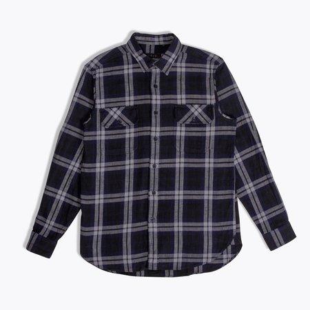 Unis Toby Shirt - Navy/Grey Plaid