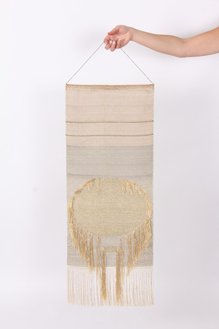 Native Line Golden Sun Wall Hanging
