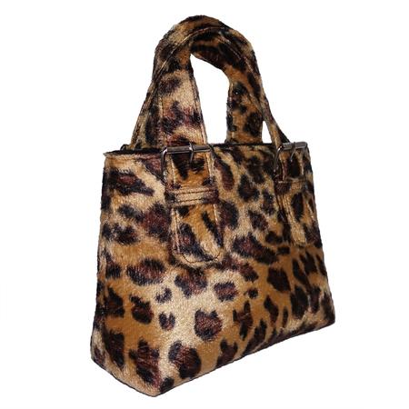 ALFEYA VALRINA Pasar Faux Fur mini tote - Cheetah Print