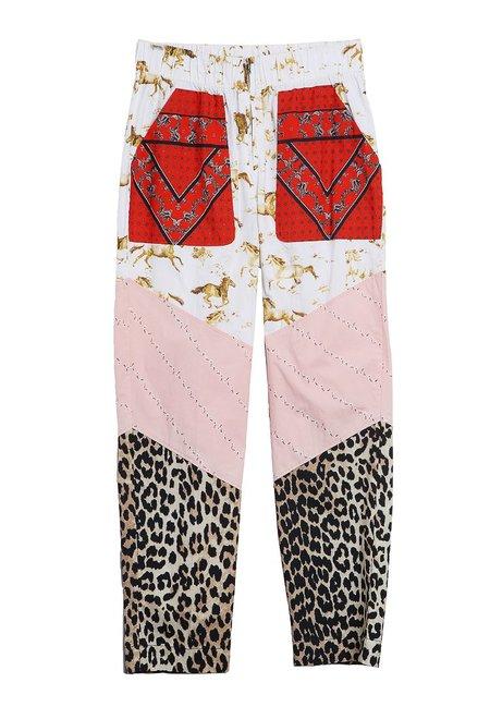 Ganni Patchwork Pants - Color Block