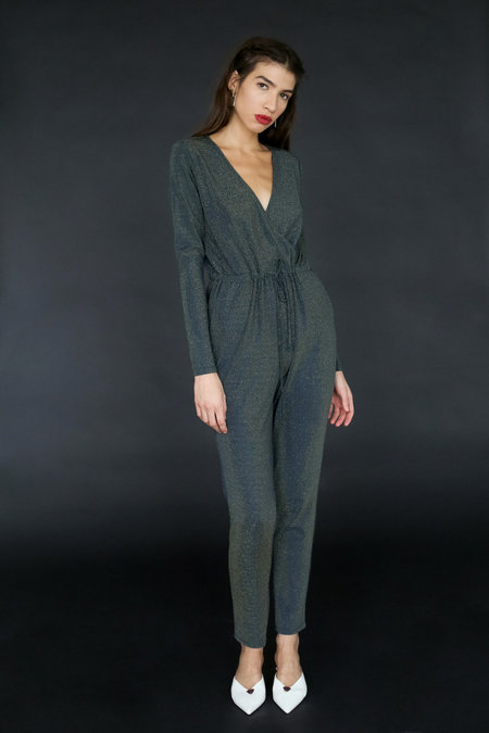 Just Female Molly Jumpsuit - Gold Lurex
