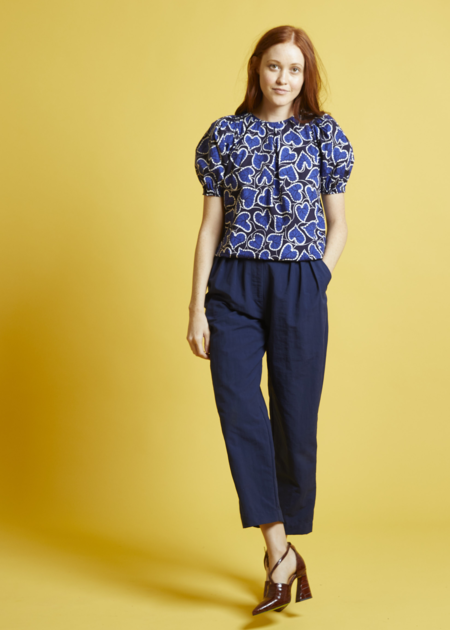 Nikki Chasin Sol Pleat Trouser - Navy