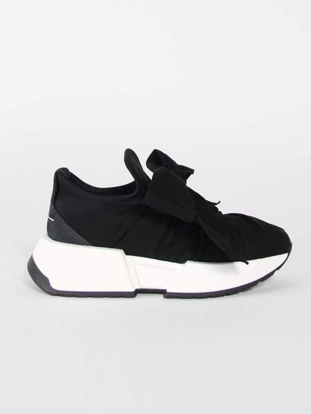 MM6 by Maison Margiela Ribbon Sneakers - BLACK