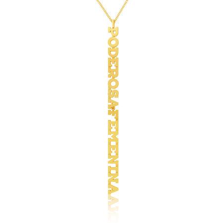 KANAREK NYC Poderosa Feminina Necklace - Gold