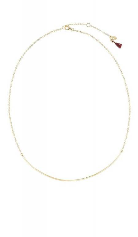 Shashi XL Bar Necklace - Gold