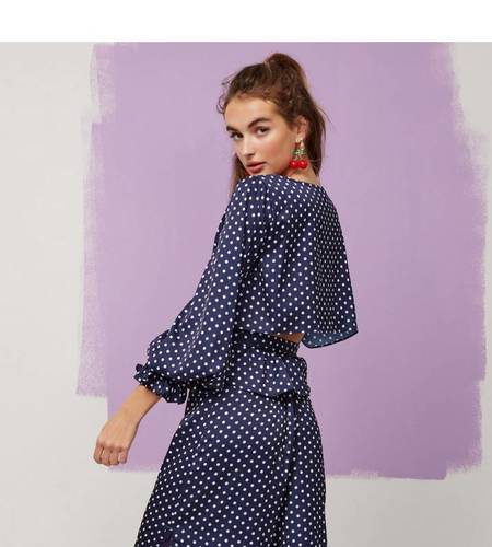 Finders Keepers Whisper Top - Navy Spot