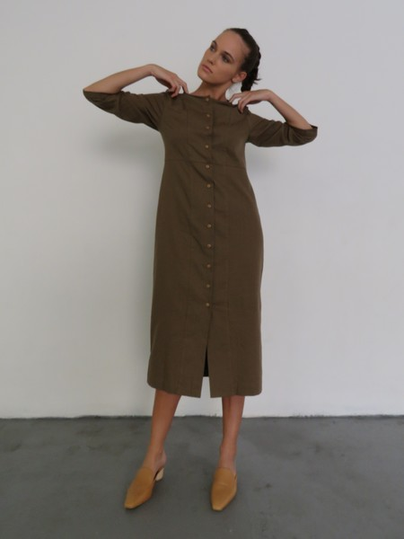 Ilana Kohn Rose Dress - Umber Canvas