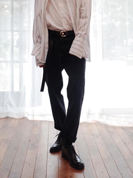 EVANLAFORET Man Denim Pants - Black
