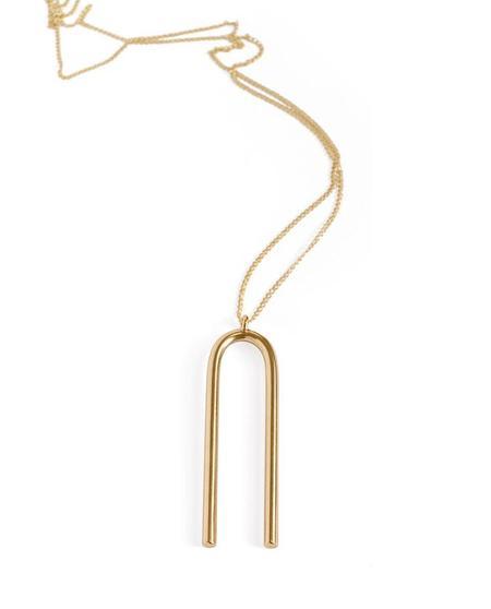 Minoux Attune Necklace - Bronze/14k Gold