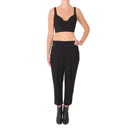 A.L.C. Morley Stretch Crop Top