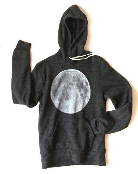 UNISEX Cairo Full Moon Hoodie - Eco Heather Black