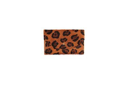 Primecut Cowhide Passport Clutch - Leopard Print