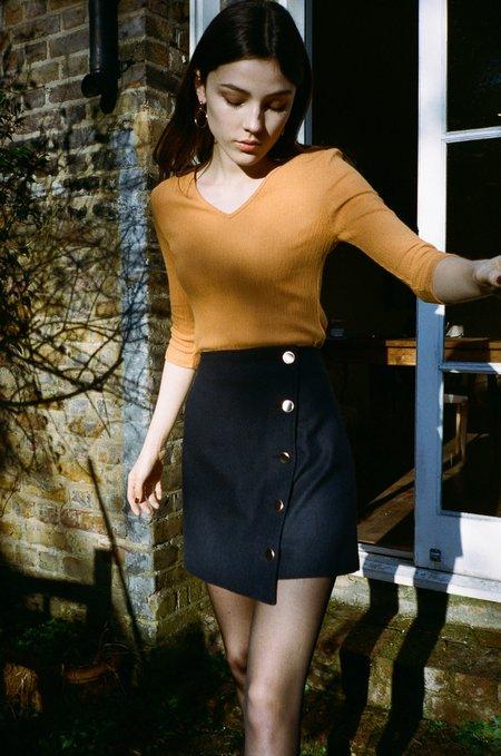 Side Party Newbie Wrap Mini Skirt