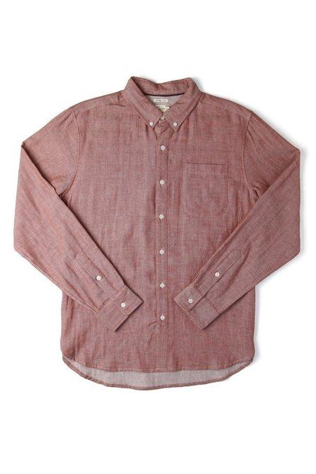 Bridge & Burn Sutton Doublecloth Button up Shirt - Copper