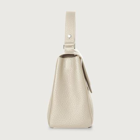 Orciani Sveva Medium Leather Shoulder Bag - Ivory