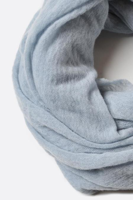 Botto Giuseppe Thick Cashmere Tube Scarf - Dusty Blue